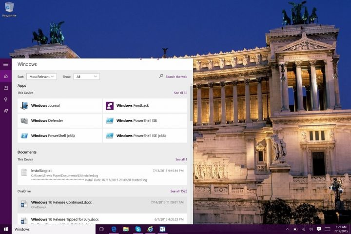 How to Search in Windows 10 (3)