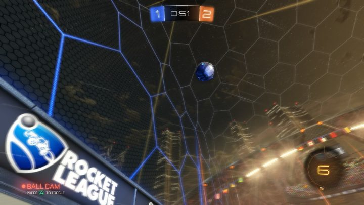 It's not always good to be looking at the ball.