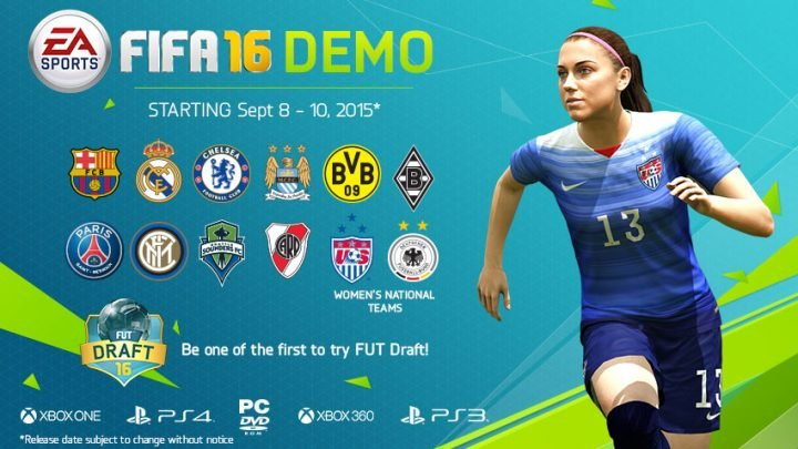 Here are the FIFA 16 demo teams you can use.