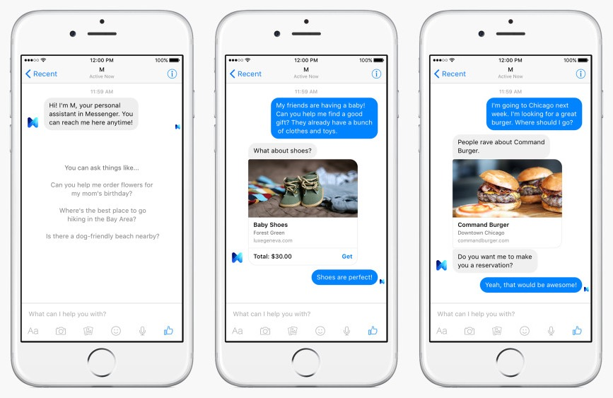 Facebook M is the social network's answer to Google Now, Siri and Cortana with a human component.