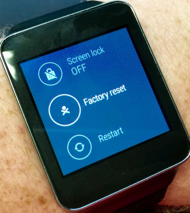factory reset android wear