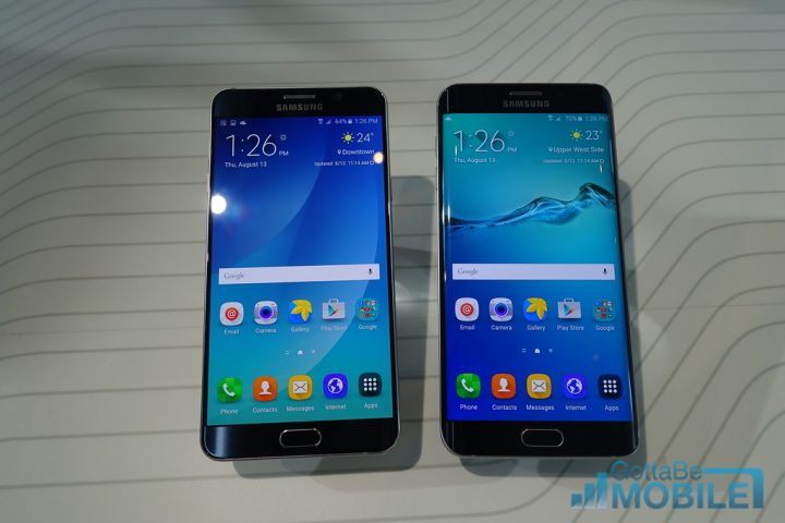 Galaxy Note 5 vs Galaxy S6 Edge Plus: Display