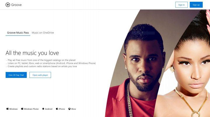 groove music on web