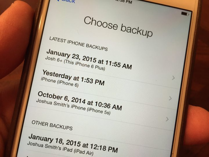 Backup your iPhone before you get the iPhone 6s.
