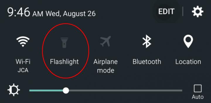 Note-5-flashlight