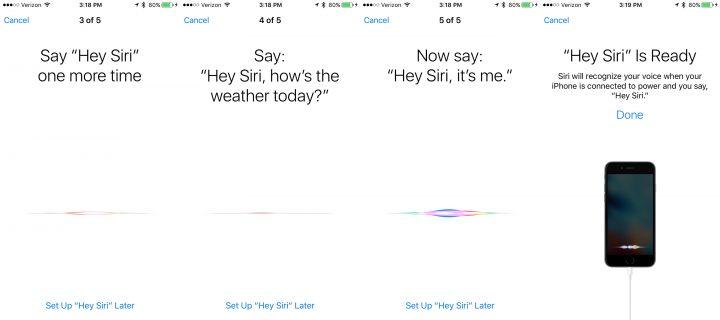 Personalize Siri in iOS 9 with Hey Siri training.