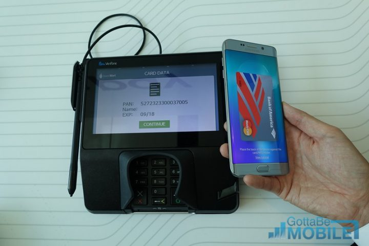 Samsung Pay works on old swipe-based machines, and new Wireless Payment terminals