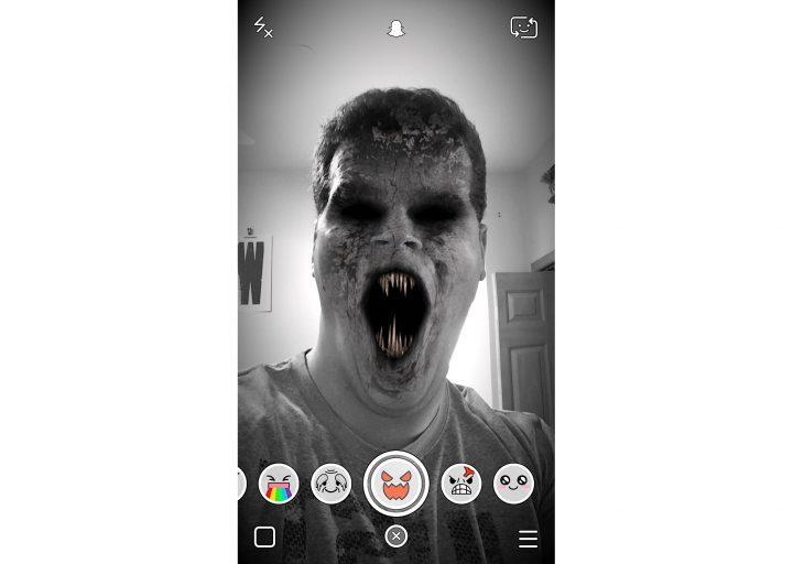 Vampire or Zombie Snapchat Lens