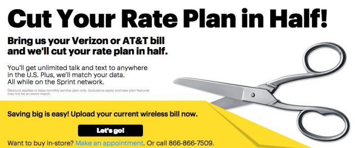 The Sprint Cut Your Rate Plan in Half event can help you switch.