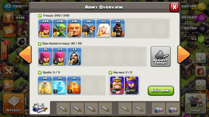 Army Overview Button in War