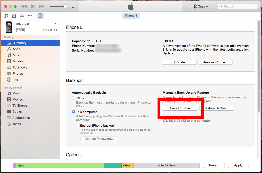 backup iphone on mac how to back up your iphone with itunes on mac 9756