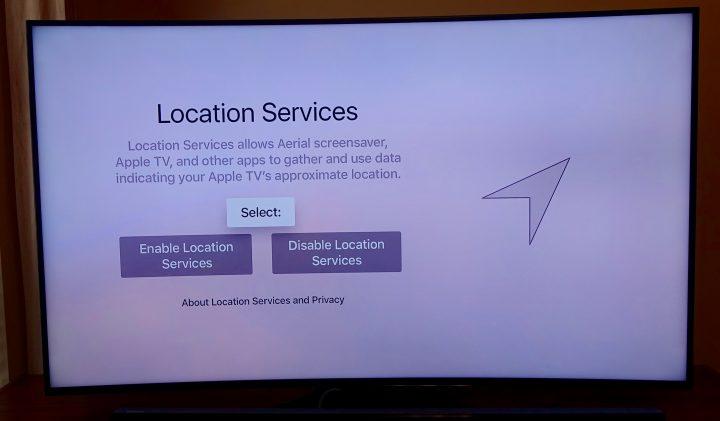 Finish choosing your Apple TV options.