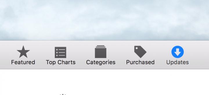 OS X App Store Updates
