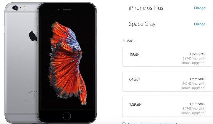 iPhone 6s Plus vs Nexus 6P: Price