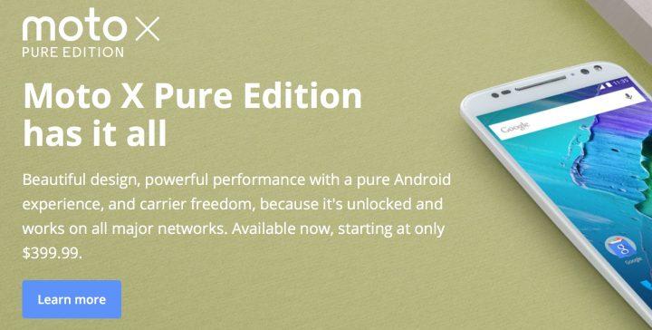 Nexus 6P vs Moto X Pure: Price