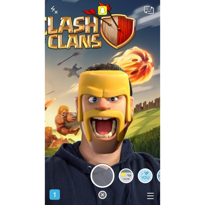 Clash of Clans Snapchat Lenses