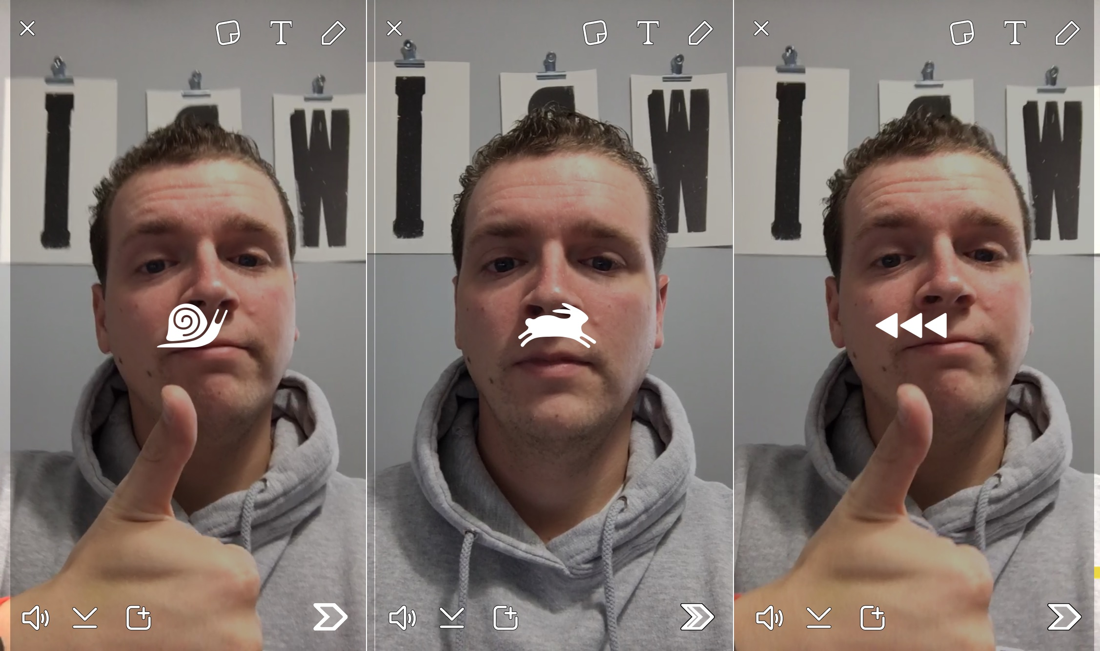 Check out the new Snapchat update that adds video filters to slow down, speed up and reverse your Snapchats.