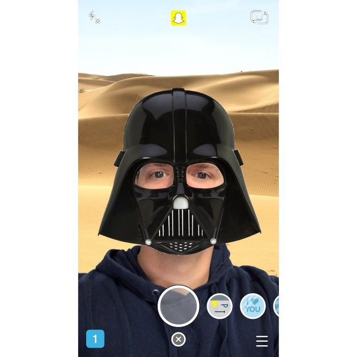 Star Wars Snapchat Lenses