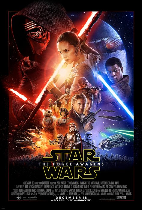 This is the new Star Wars The Force Awakens poster.
