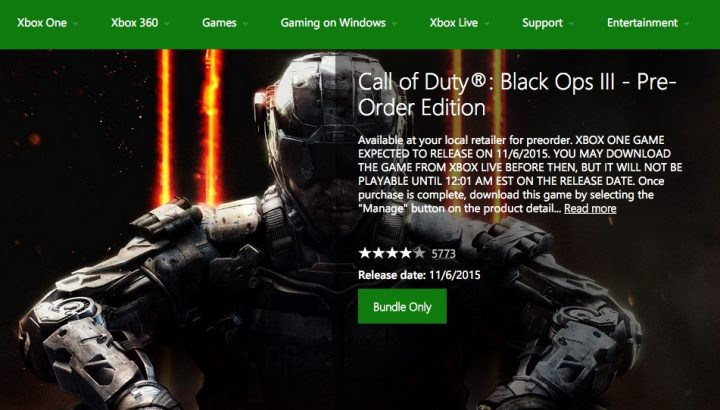 Xbox Black Ops 3 Release - 2