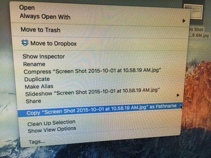 Copy Full File Pathname in Right-Click Menu