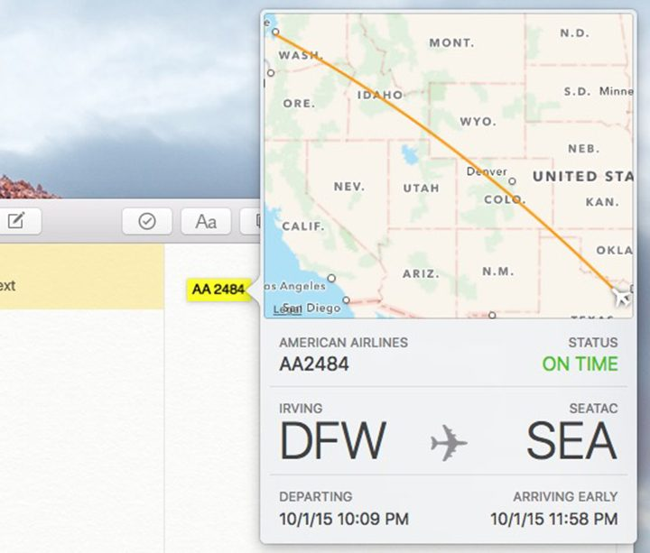 Get Flight Info from Anywhere in OS X