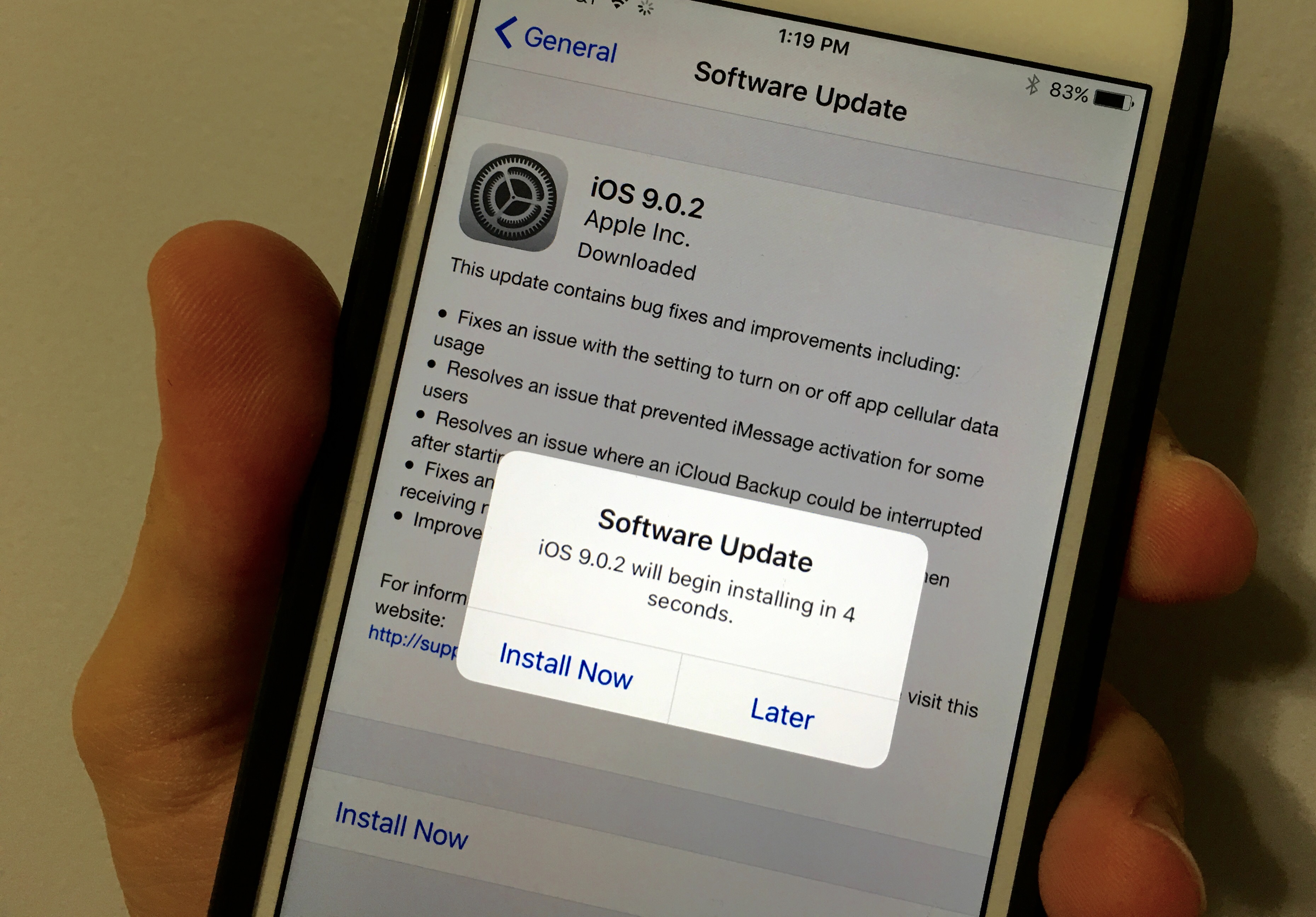 An early look at iOS 9.0.2 iPhone 6 Plus performance.