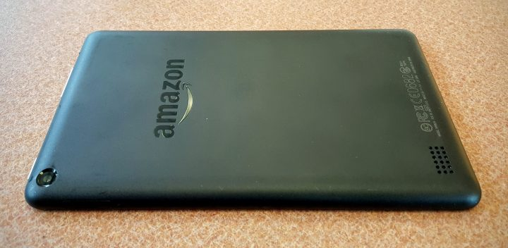 kindle fire 7 back speaker and camera