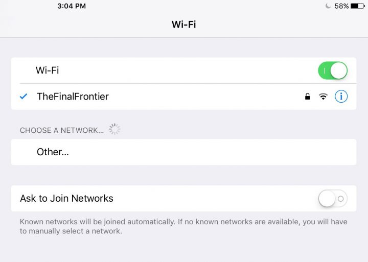 Ask to Join WiFi Networks