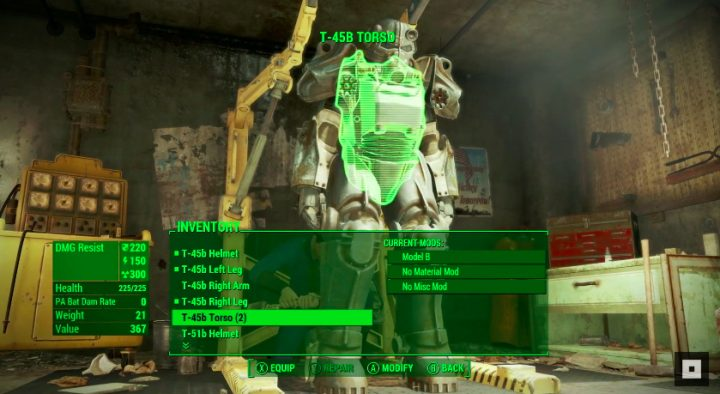 Conserve Your Power Armor & Find a Place to Store It