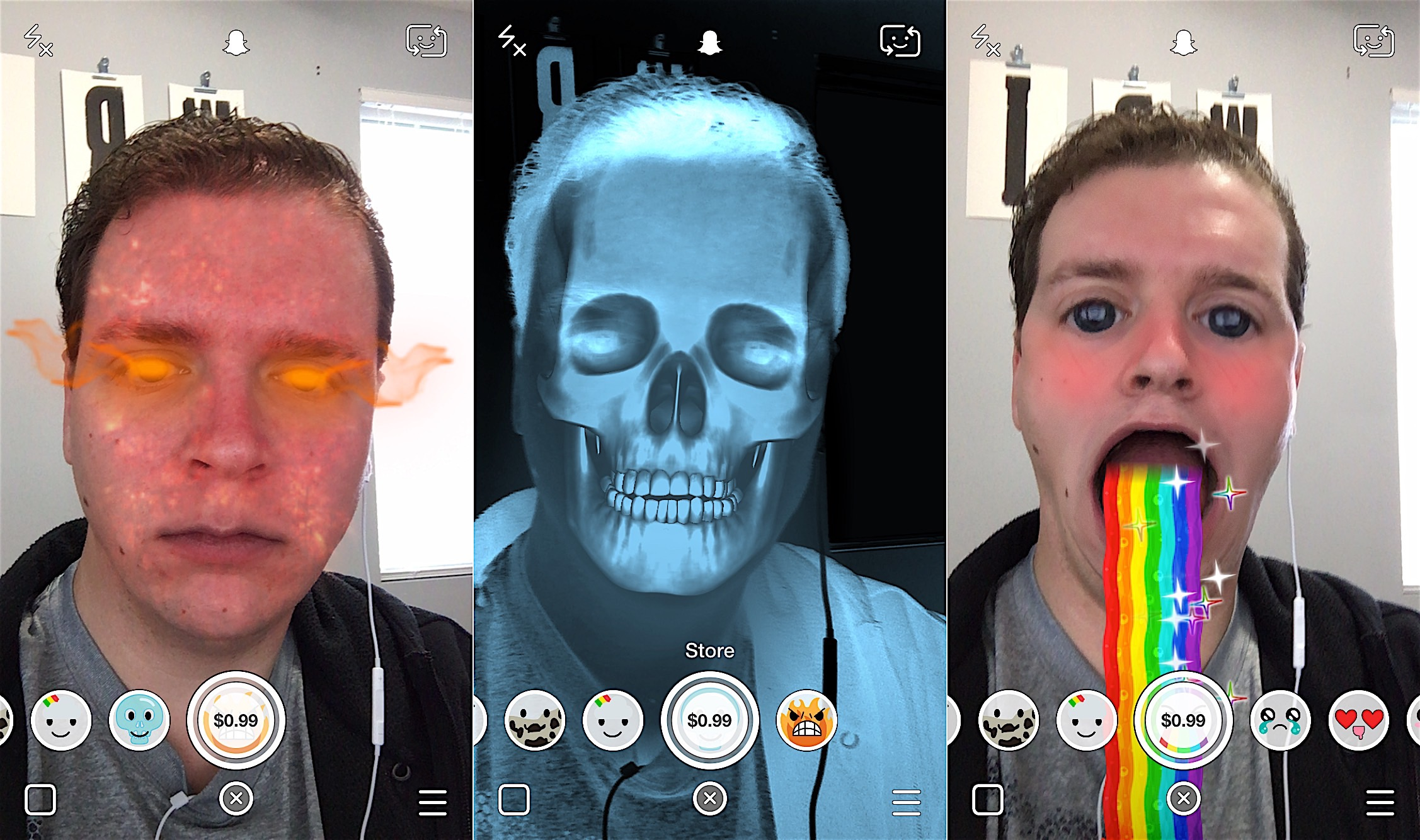 The November Snapchat update adds a Snapchat Lens Store with paid lenses.