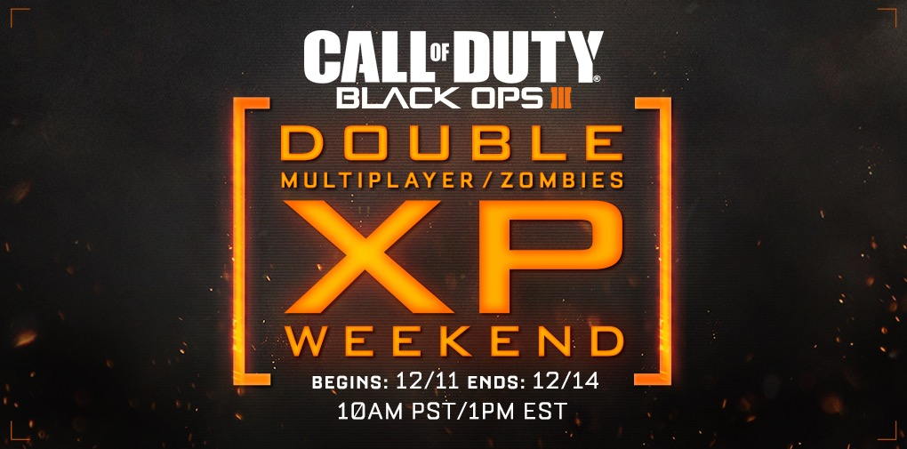 Rank up faster with this December Black Ops 3 Double XP weekend.