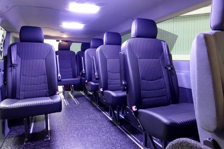 The Dynamic Shuttle includes free WiFi, USB charging ports and ample room.