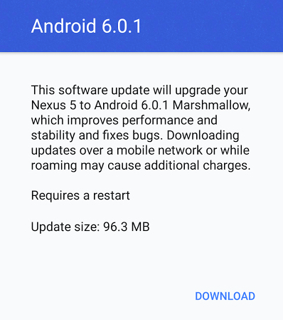 Nexus 5 Android 6.0.1 Update Review