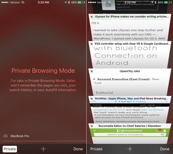 Learn how to use private browsing mode on the iPhone with iOS 9 and up.