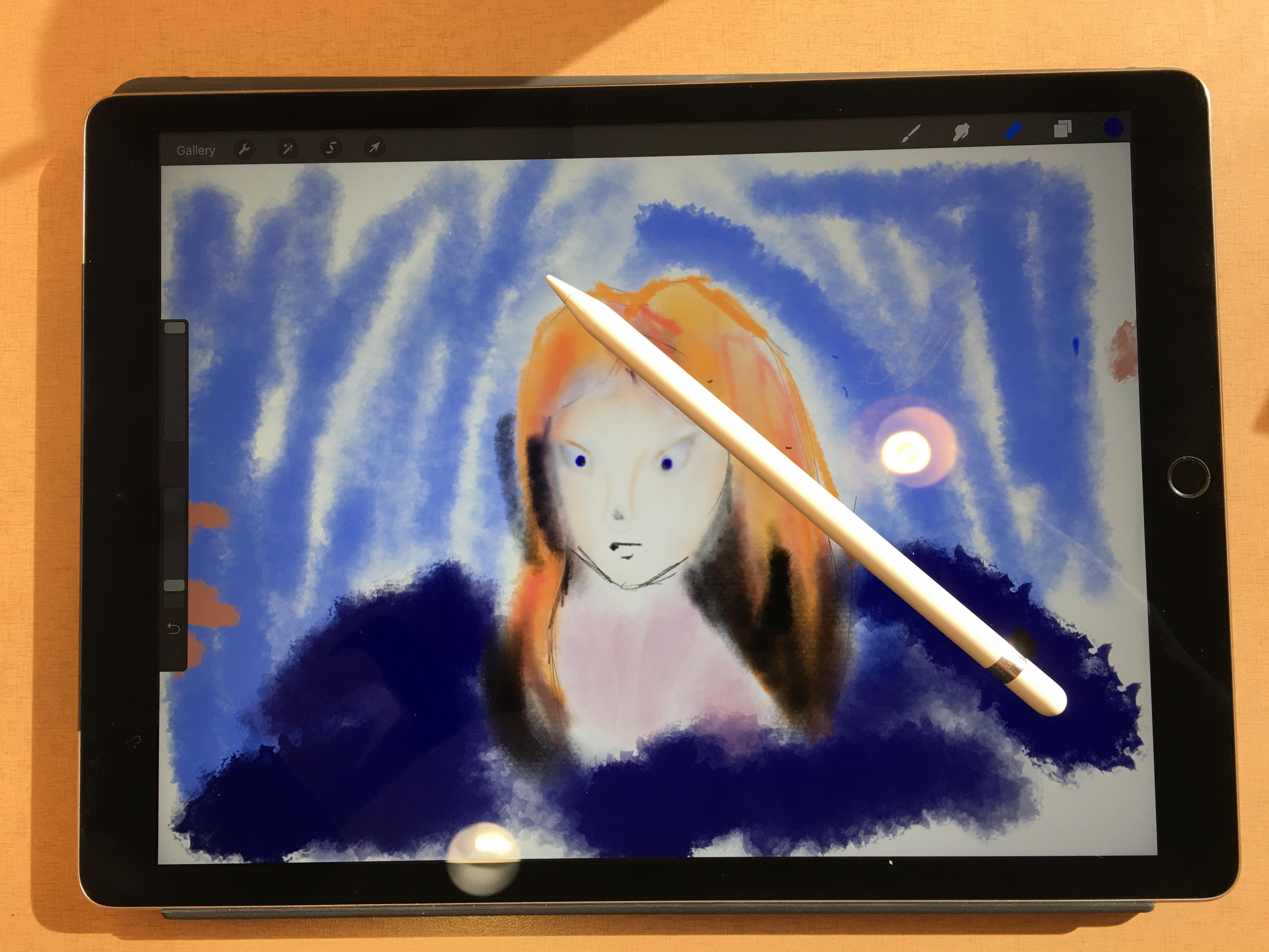 ipad pro and apple pencil with procreate
