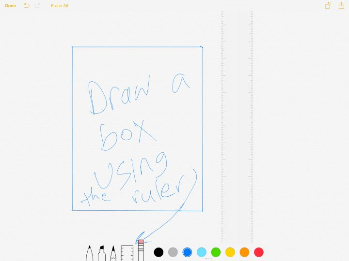 the drawing interface ios 9 notes app