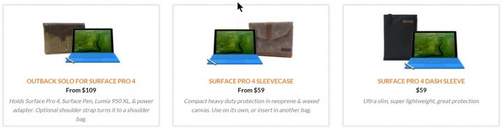 waterfield designs sleeve cases for surface pro 4