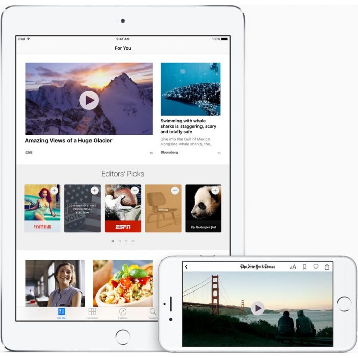 Upgraded Apple News Features