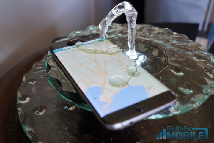 The Galaxy S7 is water-resistant