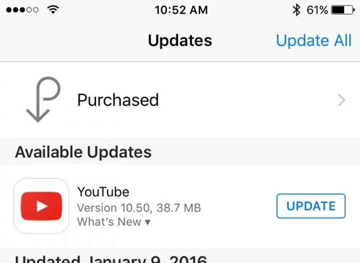 App Updates Not Appearing