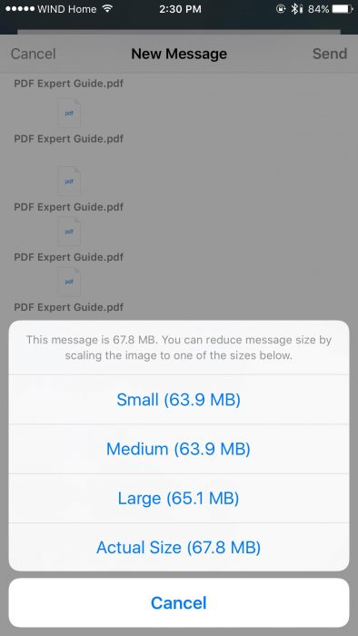 Mail Drop on iOS 9