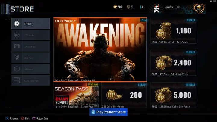 What are your options to disable or delete Awakening Black Ops 3 DLC.