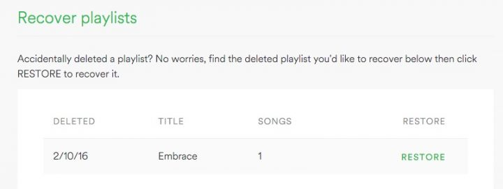 Recover deleted Spotify playlists easily.
