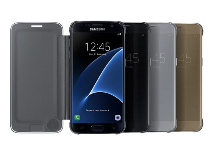 Galaxy S7 & S7 Edge S-View Flip Cover (Clear)
