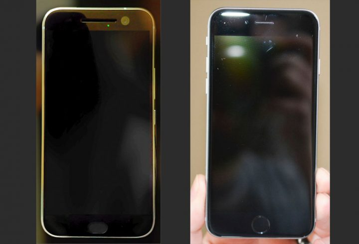 Rumored HTC One M10 (left) vs iPhone 6 (Right)