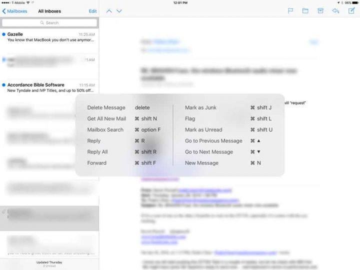 ipad-pro-keyboard-shortcuts-in-mail