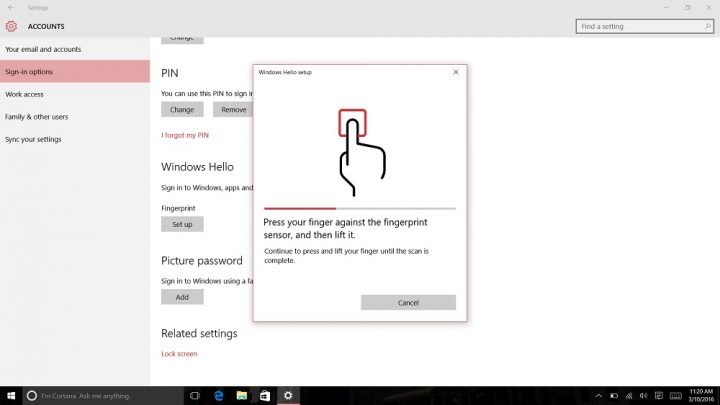 How to Login to Windows 10 with Your Finger (10)