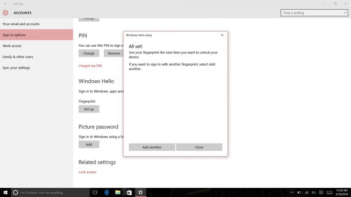 How to Login to Windows 10 with Your Finger (11)
