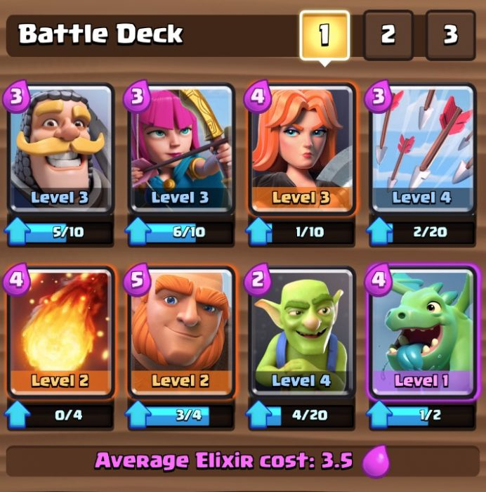 Mix up your deck with both high and low troops